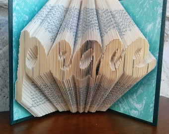 Peace - Folded Book Art - Fully Customizable, war, funeral, death, religious