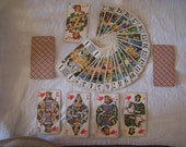 Large French vintage Tarot playing cards La DUCALE 78 playing cards. Full Set in origianl box.