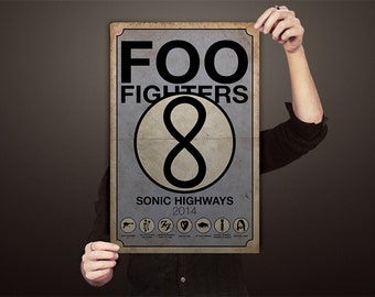 Foo Fighters Sonic Highways Poster