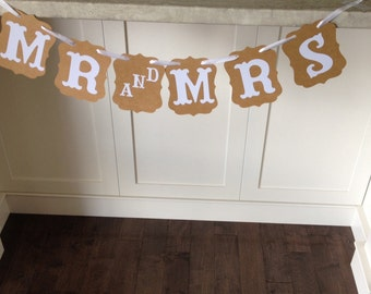 Mr and Mrs Banner kraft paper