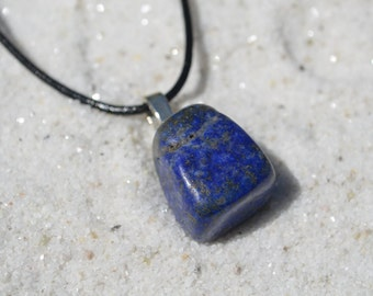 Lapis Lazuli Stone on a Leather Cord Necklace