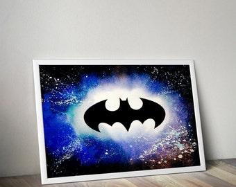 Batman logo spray painting