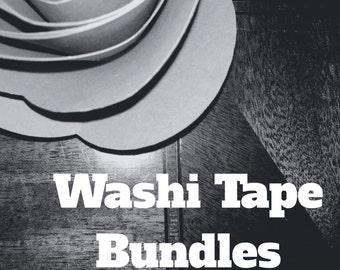 Washi Tape Bundles, washi tape deals, washi, washi tape, deals, bundle, craft supplies, scrapbooking, planner, snail mail, decor, surprise