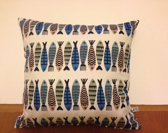 New Scandinavian style Herring Cushions/Pillows Covers. Made in Cornwall.