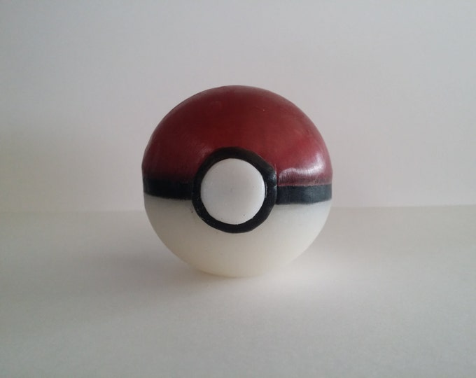Featured listing image: Pokeball Soap with Pokemon Toys in the Middle!  10% of profit to charity - Free gift when you order 3