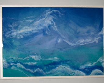 "Resin Artwork ""Wild Waves"""
