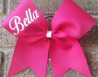 Custom cheer bow, cheer bows personalized with name - CHOICE OF COLORS