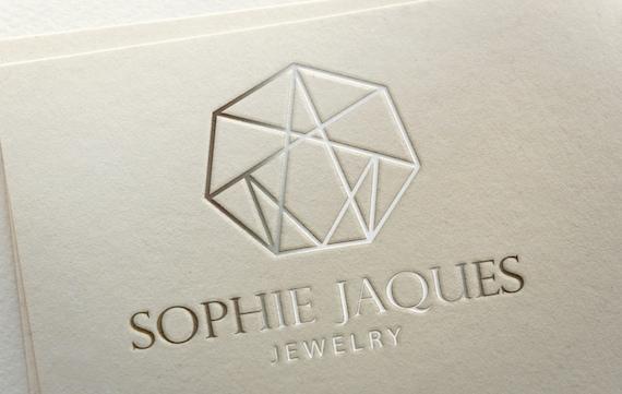 Jewelry logo design premade logo template custom logo graphic
