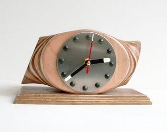 Propeller Clock, Desk Clock, Aircraft Clock, Aviation Clock, Wooden Clock, Airplane Clock, Pilots Clock, Wooden Propeller Clock, Prop Clock