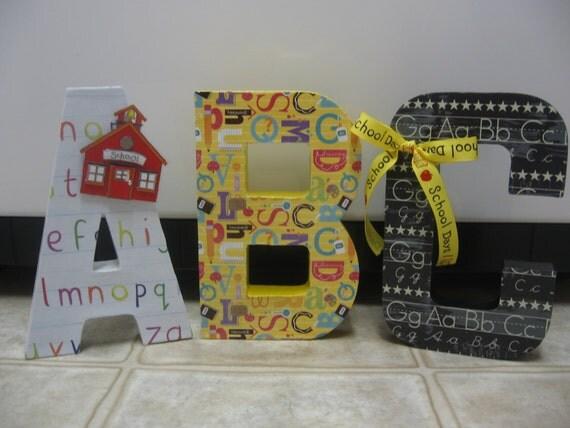 Classroom Decor Gifts : Classroom decor teacher gifts back to school paper mache
