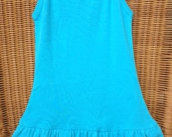 Toddler Baby Rib Spaghetti Strap Layered Dress - Ready to Wear or Embroidery, Applique