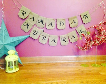 Beautiful handmade reversible Eid / Ramadan banner