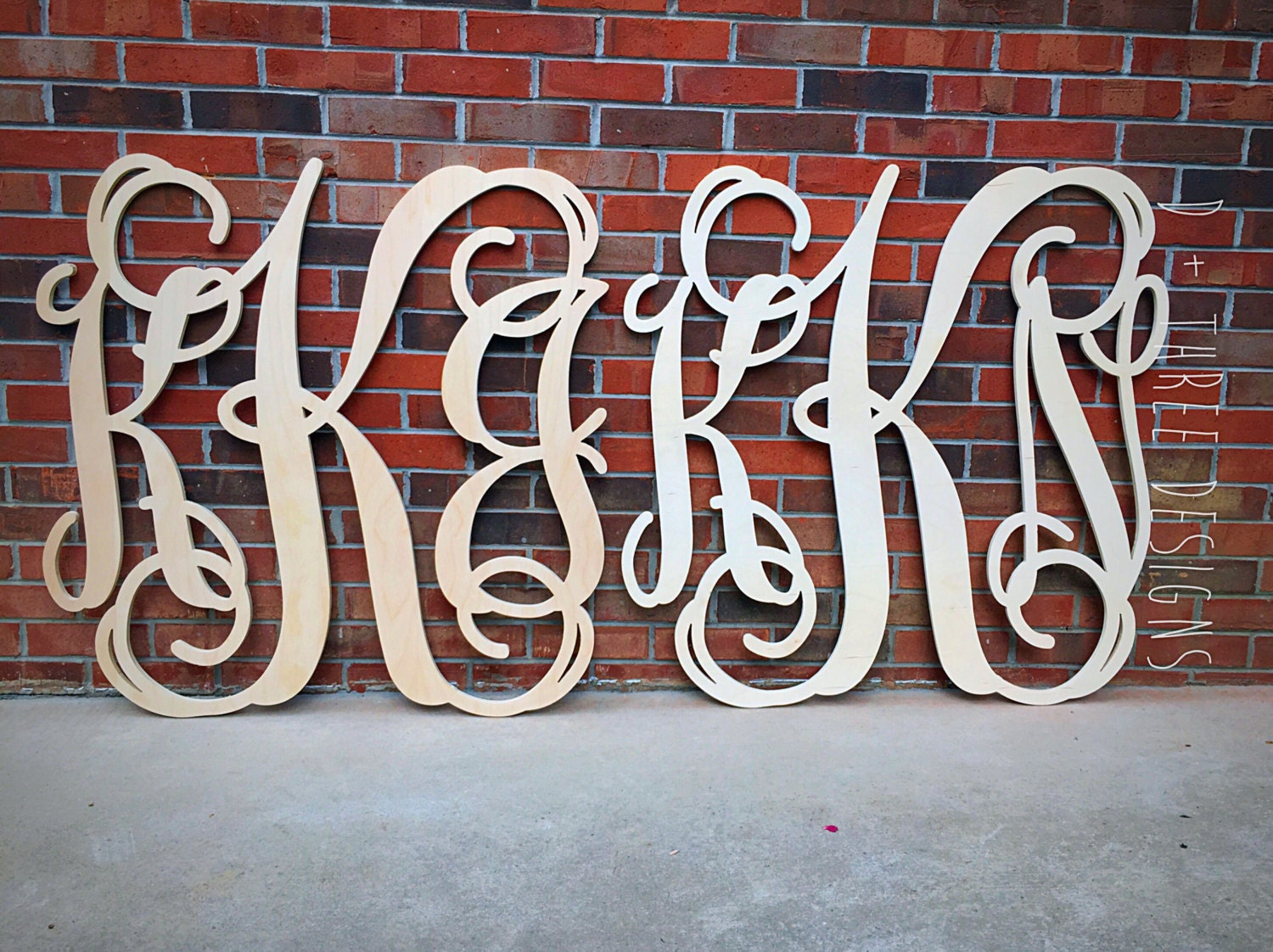 2 pack jumbo 36 inch wooden monograms wooden letters for Monogram homes