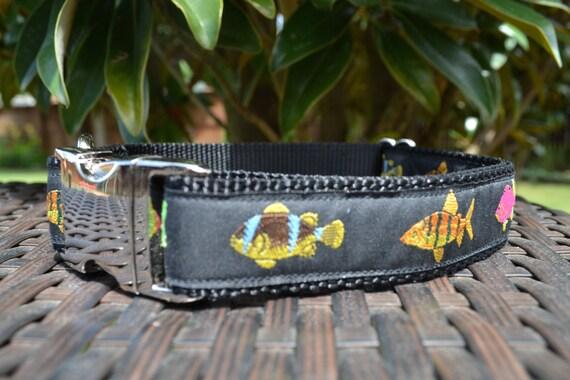 Items similar to fish dog collar 1 tropical fish for Fish dog collar