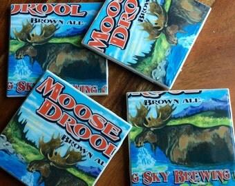 Moose Drool Brown Ale Beer Coasters