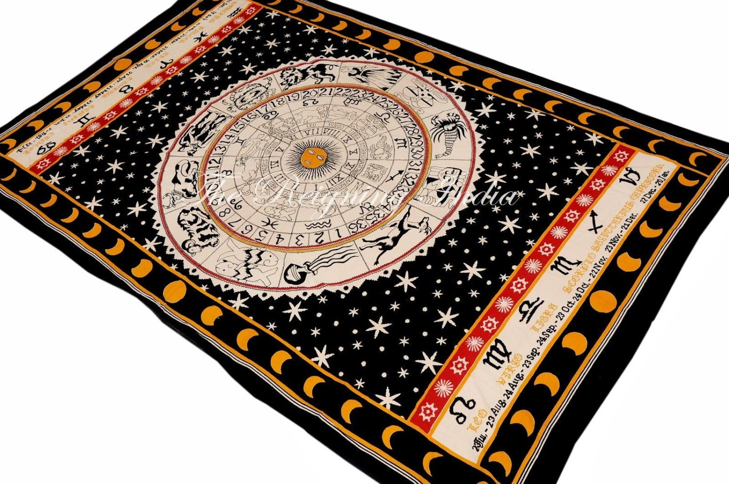 Sun and Moon Tapestry Wall Tapestry Indian by WallHangingsTapestry