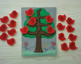 Learning to Count Birds in a Tree - Counting Fun - Toddlers Educational Game - Preschool - Nursery - Toddler Quiet Play - Gift for children