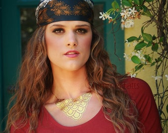 Gypsy Jewelry, Gypsy Necklace, Gypsy Coin Necklace, Gold GYPSY Coin Necklace, Gypsy Chic Style, Coin Gyspy Fashion Necklace, Silver Gypsies