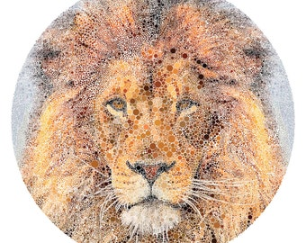 King. A4/A3/A2/A1 Lion Print, limited edition of 50