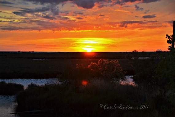 SUNSET at the CAMP ~ Louisiana at Large Series ~ Louisiana Marshes ~ Lake Pontchartrain ~ New Orleans Photography ~ Landscape Photography ~