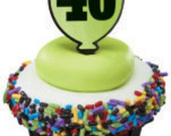 "Milestone ""40"" Cupcake Picks"