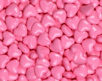 "Shimmer Pink Hearts ""Cake/Cupcake/Cookie Decorations"""
