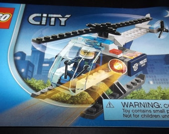 LEGO City Police Helicopter assembly booklet 60008