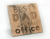 Best Dad Father's Day gift For the office Gift for men Gift for dad Gift for Father Gift for Grandpa Gift for New dad Wooden Office Decor