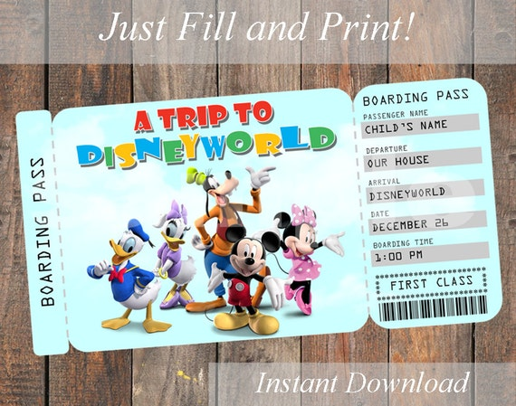 It is a photo of Obsessed Free Printable Pretend Disney Tickets