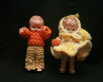 Vintag Knickerbocker Doll Couple