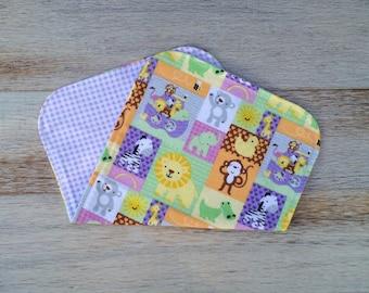 Handmade Baby Girl Flannel Burp Cloths