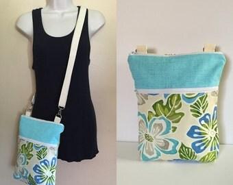 Sale***Floral, adjustable Crossbody/sling/hobo/shoulder bag