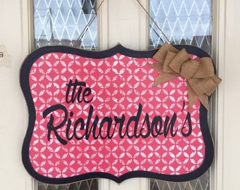 Whimsical name plaque, personalized