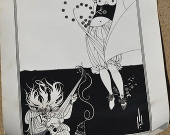 Black and White Art Nouveau Style Posters