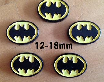 12mm-14mm-16mm-18mm Batman plugs for stretched ears *sci-fi comic geek nerd*
