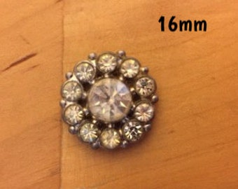 16mm sparkly wheel plug for stretched ears *vintage*