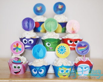 Inside Out (Inspired) Cupcake Set