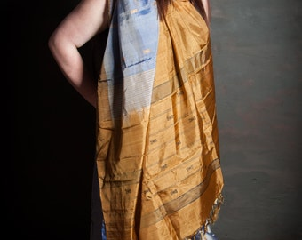 Brown, earthy Sari silk