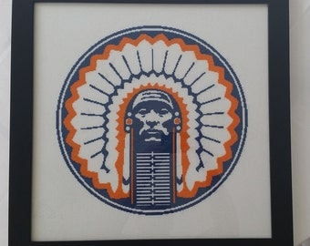 University of Illinois -- Chief Illiniwek -- Counted Cross Stitch Chart Patterns, 3 sizes!