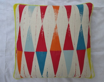 backgammon block printed cuhion cover. Multicolour