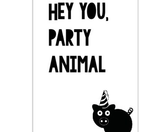 Card Party Animal Quote