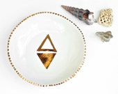 GIZA - Pyramid Jewellery Bowl - Stoneware Clay - Copper Lustre - Made to Order - Free Postage Australia Wide