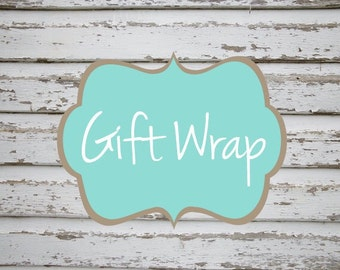 Gift Wrap and note enclosure card
