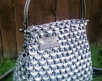 Vintage inspired purse | Soda Pull Tabs | Beer Tabs | Kissclasp | Kiss Clasp Made to Order