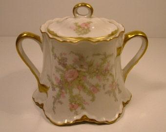 WARWICK ''APPLE BLOSSOM'' Lidded Sugar Bowl (circa 1940)