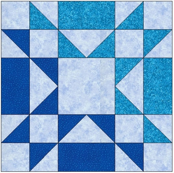 Amish Star Quilt Block Pattern Digital By Quiltblocksbyautumn