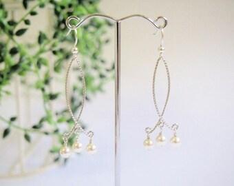 Swarovski Pearl Silver Earring, Sterling Silver Earring