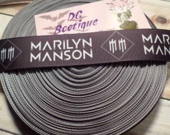 Marilyn Manson Grosgrain ribbon
