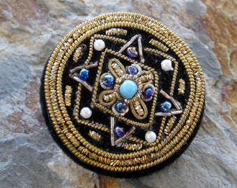 Large Ornate Embroidered Button