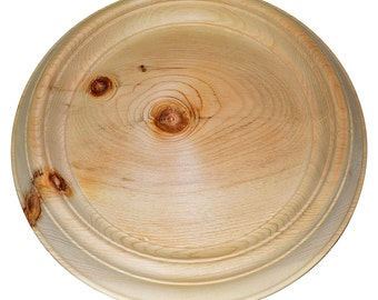 Plate for a Paint For creativity and needlework For a decoupage the Natural wood the Cedar #T3
